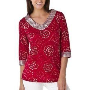 🍄Calypso St-Barth for Target Women Boho Tunic Red